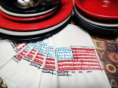 festive party napkins...