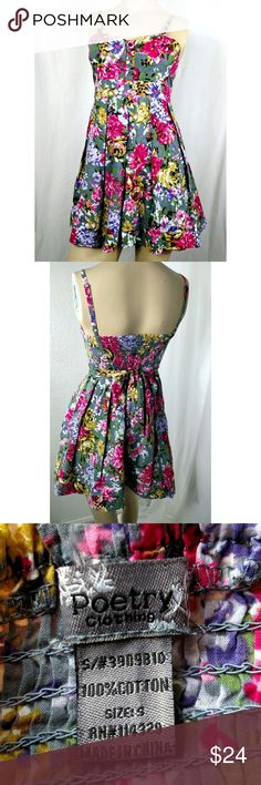 POETRY CLOTHING floral dress Small Super cute floral summer dress. Brand new without? tags. Poetry Clothing Dresses