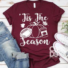 Black Friday Shirts, Friday T Shirt, Fall Football, Momma Shirts, Autumn T Shirts, Vinyl Shirts, Tee Shirts, Screen Printing Shirts, Tis The Season