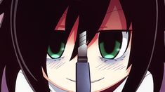 Watamote! I wonder why people look at me weird when I pull out my knife? Not my fault that they can't deal.