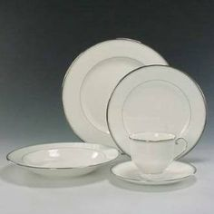 Mikasa Gothic Platinum Salad Plate 8.5-in. by MIKASA. $12.19. Material: Bone China. Diameter: 8.5-in.. Fine: 1. Pattern: Gothic Platinum. Origin: Indonesia. The graceful lines of this lovely design are enhanced with a brilliant platinum trim... Easily becoming a study in elegance... and ready to please the most discriminating audience.. Save 56% Off!