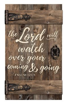 The Lord Will Watch Over Brown Distressed 14 x 24 Inch Solid Pine Wood Barn Door Wall Plaque Sign ** Examine this awesome product by going to the link at the picture. (This is an affiliate link). Pallet Crafts, Wood Crafts, Frame Crafts, Funky Home Decor, Diy Home Decor, Old Barn Doors, Rustic Doors, Wood Doors, Pallet Signs