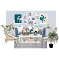 Seaside inspired living room. www.AsDesignedInteriors.com