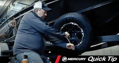 To be prepared for the possibility of a flat, you'll need to check the air pressure on your spare every time you check your in-use tires – at least several times a season and before any longer-than-average trip. Once a year you should do a little more maintenance as described in this Mercury Quick Tip Video. Trailer Tires, Boat Trailer, Lug Wrench, Commercial Cleaners, Mercury Marine, Tire Pressure Gauge, Spare Tire Covers, Boat Safety, Used Tires