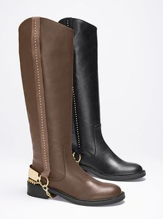 Studded Riding Boot...NEEED In black for Fall 2013...or maybe BROWN? OR BOTH? #fall2013 #ridingboot #Victoriasecret