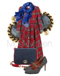 Vintage Lady by musikmaven on Polyvore featuring polyvore, fashion, style, Ann Marino, Chanel, Reed Krakoff, vintage, clothing, VintageInspired, jean and flannel