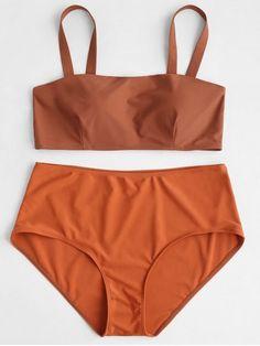 1ab2d3cef1 Padded Plus Size High Waisted Bikini Set