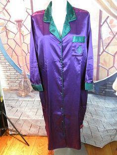 Nicole Classics Purple Pajama Set Robe, Shirt, Pants Size Small #NicolesClassics #PajamaSets #Glamour