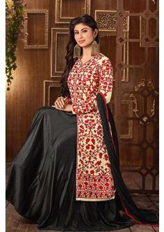 Cream Georgette Anarkali Suit, - Rs. 2,824.00, #IndianFashion #OnlineSuitBazar  #IndianDresses #Shopkund