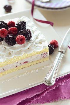 Torta ai frutti di bosco LEGGERA allo yogurt stampo da 18-20