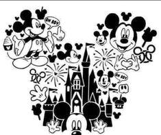 Cricut Craft Room, Cricut Vinyl, Disney Diy, Disney Crafts, Vinyl Crafts, Vinyl Projects, Image Svg, Disney Silhouettes, Cricut Tutorials