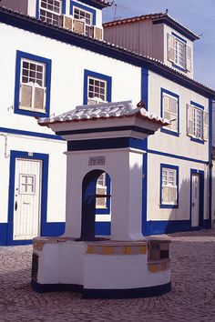 Ericeira village, near Lisbon with its typical architecture and bright colors #Portugal