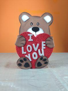 Osito dulcero para san Valentín