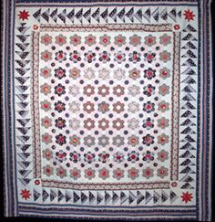 Center Square with hexagon mosaic flower (1830).  Looks very contemporary