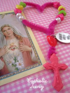 This craft would be great for celebrating the feast of the Sacred Heart of Jesus, or the feast of the Immacualte Heart of Mary. We made these in celebration of St. Valentine's feast day. You know– ...