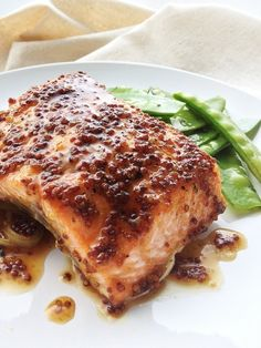 Mustard Brown Sugar Glazed Salmon