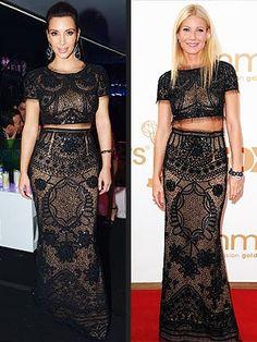 Kim Kardashian or Gwyneth Paltrow: Who Wore Her Two-Piece Dress Best?