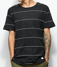 Akomplice VSOP Spaced Out Black & White Stripe T-Shirt