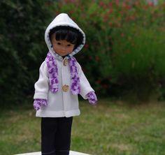 Vêtements veste pantalon écharpe moufles pour poupée 33 cm type les chéries de corolle