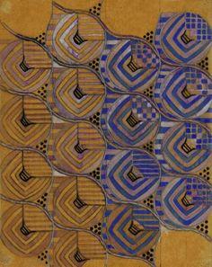 Margaret MacDonald Mackintosh, 'Roses' Textile Design (1915-23) influential Glasgow School artist who helped define Art Nouveau