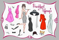 oh sh*t. breakfast at tiffany's paper doll. so sweet.