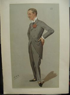 """""""Bleinheim Palace,"""" that's what Sir Leslie Matthew Ward, the artist known as """"Spy,"""" titled this work published in Vanity Fair, 22 Sep 1891. It's meant to satirize """"Sunny,"""" the 9th Duke of Marlborough, born Charles Richard John Spencer-Churchill."""