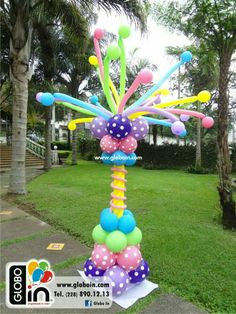 Balloon Pillars, Balloon Tower, Balloon Display, Love Balloon, Balloon Arch, Balloon Centerpieces, Balloon Decorations Party, Birthday Decorations, Candy Theme Birthday Party