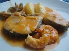 Merluza en salsa de marisco