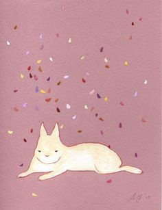 Lazy Bunny by yumiyumi on Etsy, $29.00