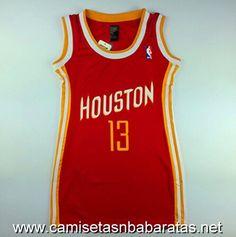 Camisetas Mujer Houston Rockets Harden #13 Rojo €22.99