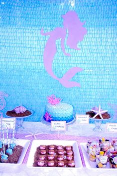 Cecilia's Under the Sea/Mermaid 5th birthday party | CatchMyParty.com