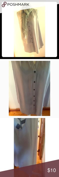 Sheer Button Down Top🦋 Gorgeous silver/grey button down top in perfect condition. Slightly longer in the back (by 1 inch). Made with 100% polyester. Maurices Tops Button Down Shirts