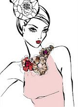 fashion illustration with necklace