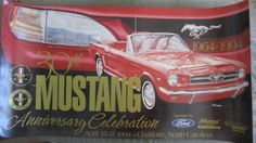 Ford Mustang 30th Anniversary Celebration Poster MCA Club America 1994 1964