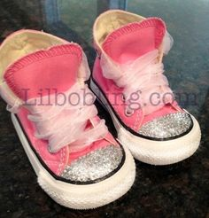 Bling Converse for Babies and Toddlers. $55.00, via Etsy.