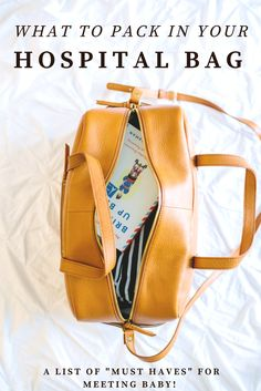 What to Pack in your Hospital Bag - A must have list for your hospital stay & meeting baby! Hospital Bag Essentials, Hospital Bag Checklist, Maternity Style, Maternity Fashion, Little Babies, Little Ones, Baby E, Lil Boy, Baby Boom