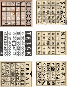 artistic hen free halloween bingo cards to download part 1 from the first - Free Printable Halloween Bingo Game Cards