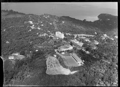 Titirangi, Waitakere City, Auckland region, including Lopdell House (Department of Education's school for the deaf) and Titirangi Primary School Nz History, Auckland New Zealand, Primary School, The Neighbourhood, Education, City, Aviation, House, Outdoor