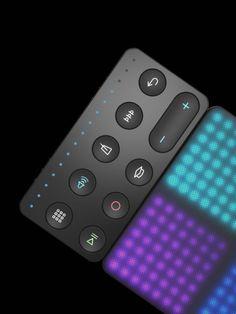 #Button #Electronics #Gradient #hifi #LED #modular #square #squary #User Interface