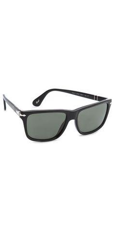 Persol Rectangular Polarized Sunglasses