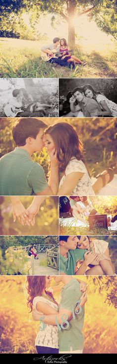 such pretty engagement photos!