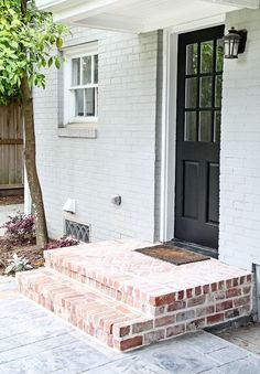 red brick entrance steps