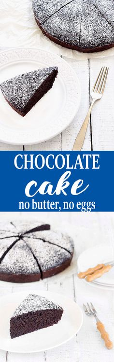 A no butter, no eggs, soft, moist, and rich chocolate cake. You only need two…