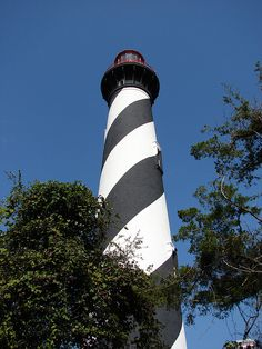 St. Augustine Florida Lighthouse-supposed to be haunted. I've been to St. Augustine but I haven't been to this light house