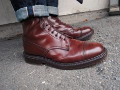 Tricker's Mogano shell Herman boots by SF user scrwl
