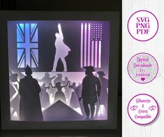 Hamilton 3D Paper Cut Template Light Box SVG Digital Download Files, Shadow Box by Jumbleink on Etsy New Shadow, Shadow Box, 3d Light, Cabin Christmas, Paper Light, Star Work, Scan And Cut, Color Effect, 3d Paper