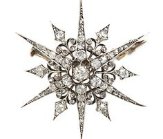 Victorian Diamond Star Brooch - The Three Graces