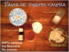 PASTA DE DIENTES CASERA Pasta Dental Casera, Diy Beauty, Beauty Hacks, Green Life, Doterra, Natural Health, Aromatherapy, Essential Oils, Remedies