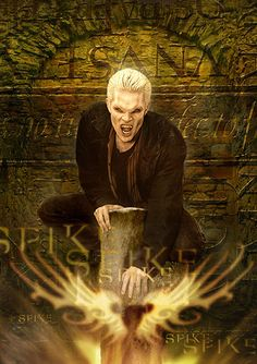 Spike from Buffy The Vampire Slayer Spike Buffy, Buffy The Vampire Slayer, Vampire Pictures, Vampire Pics, Vampire Art, Bad Boy, Wolf, Buffy Summers, Great Tv Shows