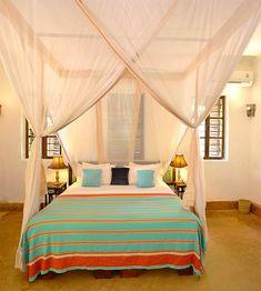 Your bedroom at Matemwe Beach House, Zanzibar
